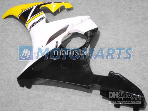kit carénage moto jaune blanc POUR Yamaha YZF R6 2003 2004 2005 YZF-R6 03 04 05 YZFR6 600 03-05
