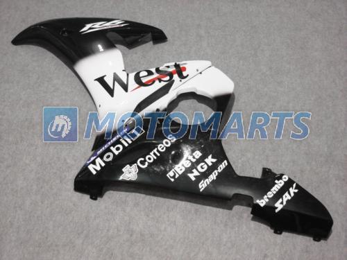 Blanc noir West Caréning Kit pour Yamaha YZF R6 2004 2004 2004 YZF-R6 03 04 05 YZFR6 600 03-05