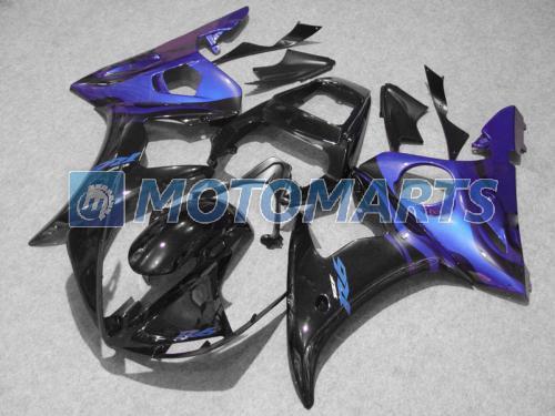 Kit de carenagem de carroçaria preta azul para Yamaha YZF R6 2003 2004 2005 YZF-R6 03 04 05 YZFR6 600 03-05