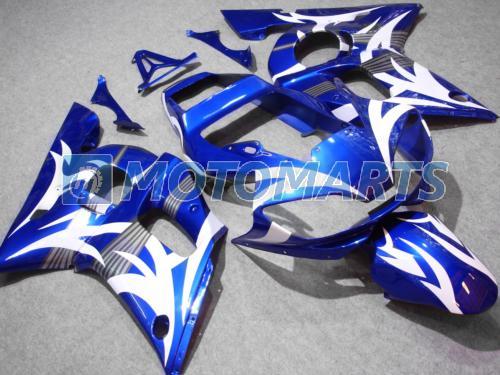 Kit de carenado blanco Blu para Yamaha YZF R6 1998 1999 2000 2001 2002 YZF-R6 YZFR6 98 99 00 01 02 011