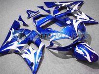 Wholesale Blu Kit - Blu &white fairing kit FOR Yamaha YZF R6 1998 1999 2000 2001 2002 YZF-R6 YZFR6 98 99 00 01 02 011