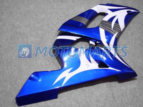 Blu White Fairing Kit för Yamaha YZF R6 1998 1999 2000 2001 2002 YZF-R6 YZFR6 98 99 00 01 02 011