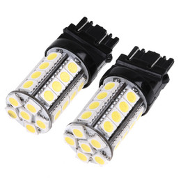 Wholesale Car Brake Stop Lamp - White 4W 360LM 3157 30 5050 SMD LED Car Brake Stop Lamp Light Car Wedge tail lights Bulb K467