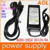 Power Supply for LED Strip Light 5050,3528 SMD 100-240V AC DC 12V 6A 72W Power Adapter Router HUB