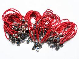 Wholesale Wholesale Jewlery Settings - Lot of 120pcs HAMSA and evil eye Bracelets Red Kabbalah String Charm cuff bracelets judaica jewlery Free Shipping