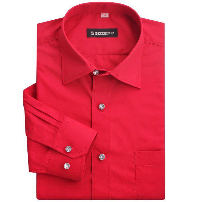 2017 Hot Sale Men's Designer Dress Shirts Cotton Shirt Long Sleeve ...