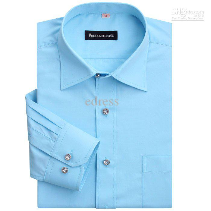 Online Cheap New Men's Designer Dress Shirts Cotton Shirt Long ...