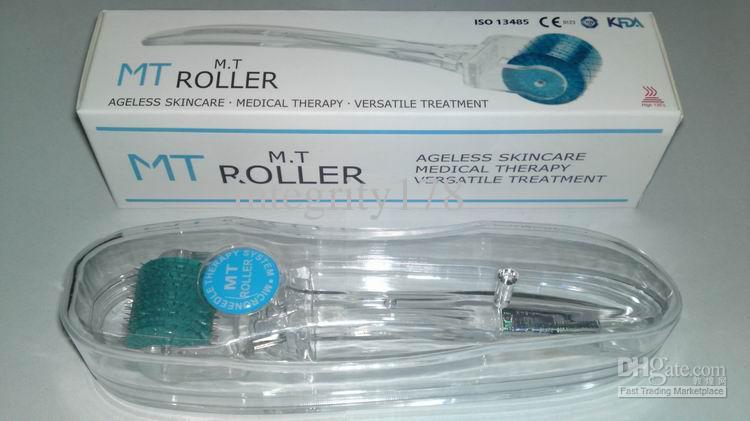 E-PACK FDA MT192 micro derma roller para el rejuvenecimiento de la piel, rodillo microneedle para belleza de la piel