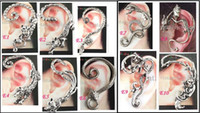 Wholesale Mix Ear Cuff Punk - 2014 Mixed Ear Cuff Fashion Earrings Punk Jewelry Silver and Gold Colors 36pcs lot Free Shipping
