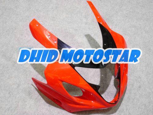Kit de carenado ABS negro naranja para SUZUKI GSXR 600 750 K4 2004 2005 GSXR600 GSXR750 04 05 R600 R750