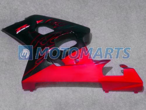 Kit carenado moto de llama roja PARA SUZUKI GSXR 600 750 K4 2004 2005 GSXR600 GSXR750 04 05 R600 R750