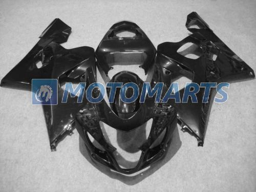 All Black Fairing Kit för Suzuki GSXR 600 750 K4 2004 2005 GSXR600 GSXR750 04 05 R600 R750
