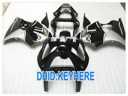 Wholesale Kawasaki Ninja Zx6r Gray - Custom Black Gray motorcycle fairing for kawasaki ZX6R 2000 2001 2002 ZX 6R 636 Ninja ZX636 00 01 02
