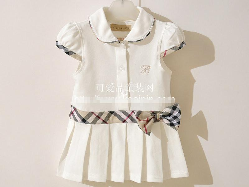 The cheapest !EMS Girls dresses Pleated tennis dress belt girls clothes many color