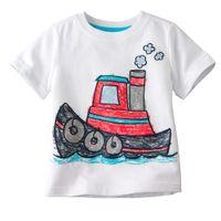 3т трикотаж оптовых-мальчики тройники рубашки топы футболки джерси лодки перемычки Детские футболки синглеты блузки детские наряды LMQ73