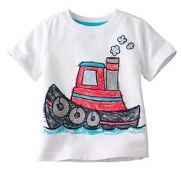 China boys tees shirts tops tshirts jersey boats jumpers baby t-shirts singlets blouses kid outfits LMQ73 cheap jumper t shirts suppliers