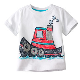 Wholesale Wholesale Cotton Kids Singlets - boys tees shirts tops tshirts jersey boats jumpers baby t-shirts singlets blouses kid outfits LMQ73
