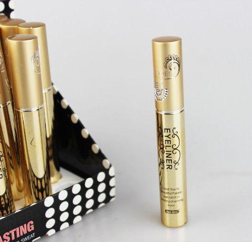 24 teile / los Schwarz Farben Liquid Eyeliner Feine Anhaltende Wasserdichte Anti-schweiß Make-Up Eyeliner 8 ml 8406 #
