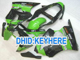 Wholesale Kawasaki Zx6r Fairings Black Green - Green&black Fairing for kawasaki ZX 6R 2000 2001 2002 ZX-6R 636 Ninja ZX636 ZX6R 00 01 02 body kit