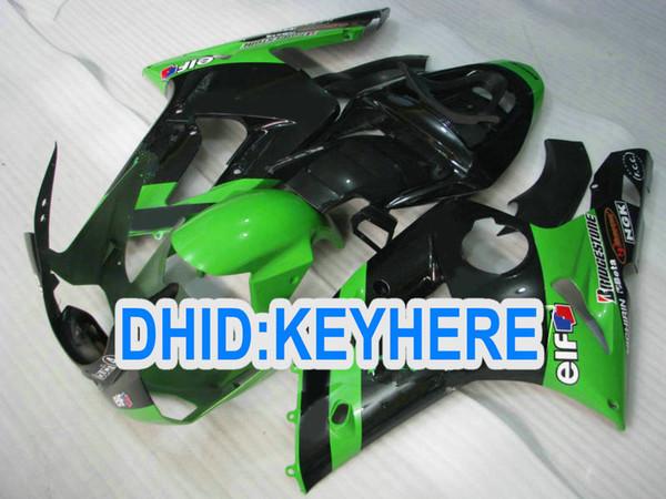 Hi-grade green EIF Custom ABS Fairing for kawasaki 2003 2004 ZX 6R ZX-6R 636 03-04 ZX636 ZX6R 03 04