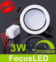 Luz Empotrada Dimmable Led Downlights CREE 3W Caliente Lámpara Blanca Led Fixture 120 Ángulo Beam 110-230V