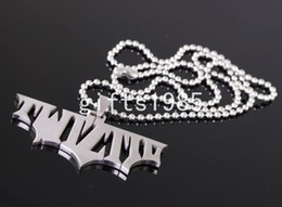 HATCHETMAN Ciondolo fashion in acciaio inossidabile personalizzato Twiztid Batman mai sbiadito Batman Forever un buon regalo 30INCH BALL NECKLACE