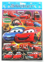 Wholesale Kids Sticker Sheet Car - Wholesale 100 sheets cartoon Red car Jolee's Boutique Stickers Party Gift