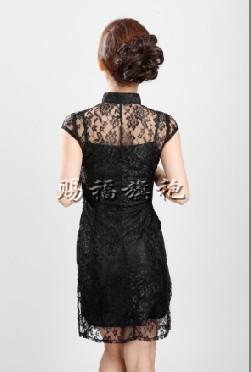 اللون اثنين من قطعة الدانتيل شيونغسام الرجعية أزياء فقرة قصيرة شيونغسام اختيار مجموعة متنوعة من ق