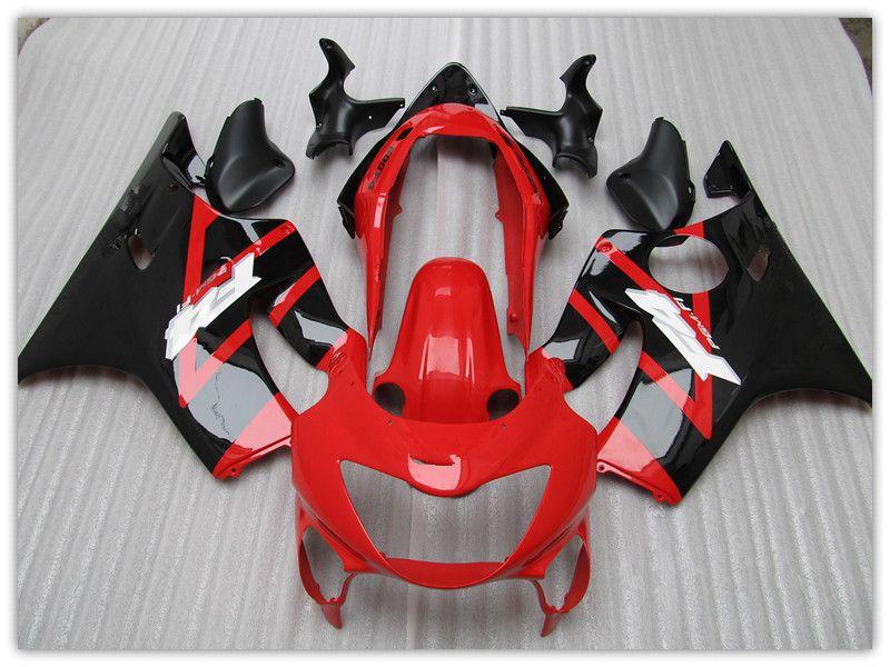 Customize free aftermarket FAIRING KIT for Honda CBR600 F4 1999 2000,CBR600  F4 99 00 RED&Black motocycle fairings parts bodywork windscreen
