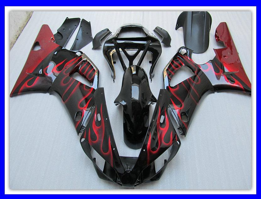 1 компл. ABS мотоцикл обтекатель для YAMAHA R1 00 01 YZF-R1 2000 2001 красное пламя кузов обтекатели набор