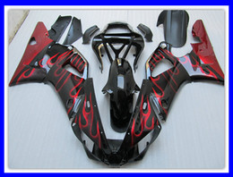 1 juego ABS Motocycle carenado para YAMAHA R1 00 01 YZF-R1 2000 2001 RED Flame Body Fairings set desde fabricantes