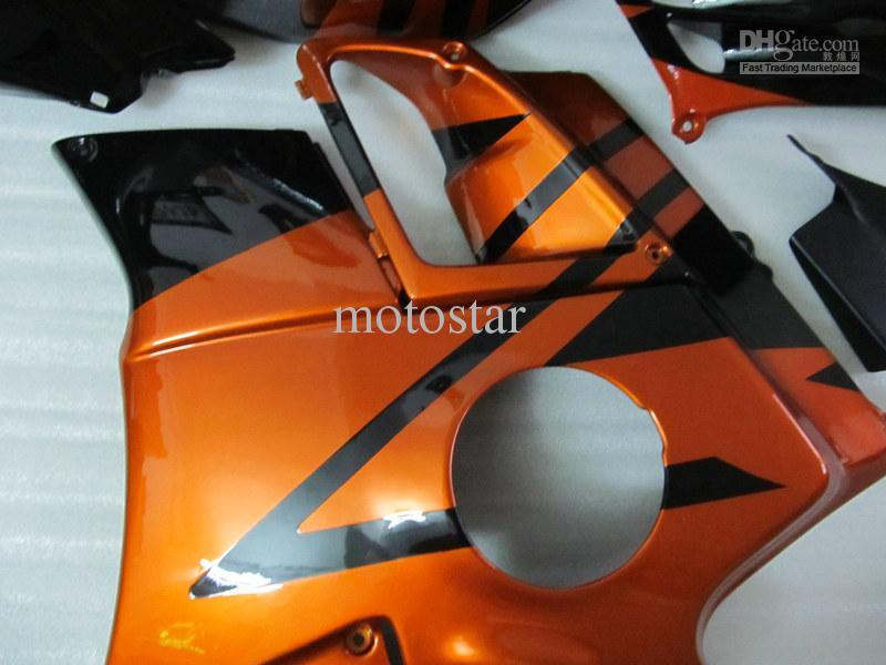 Free 7 Gifts Fairing kit for Honda CBR600 F2 1991 1992 1993 1994 CBR600F2 91 92 93 94 body kits fairings Orange-gold black
