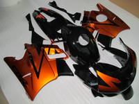 laranja f2 venda por atacado-Kit de Carenagem 7 Presentes Grátis para Honda CBR600 F2 1991 1992 1993 1994 CBR600F2 91 92 93 94 carroçaria carenagem Laranja-ouro preto