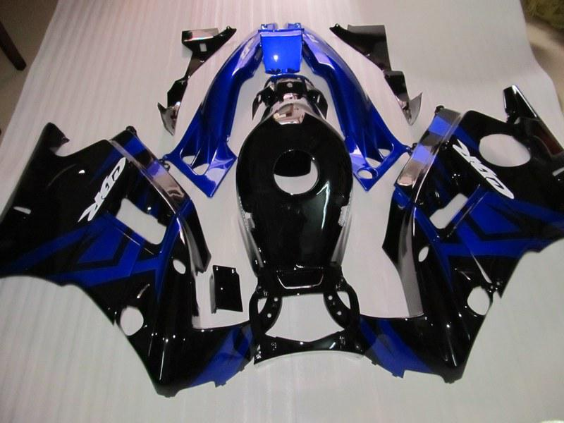 Blue black ABS Fairings for CBR600 F2 1991 1992 1993 1994 CBR600F2 91 92 93 94 CBR F2