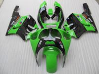 kawasaki ninja için fairing kitleri toptan satış-ABS Karoser Kaporta Kawasaki ZX 7R ZX7R Ninja 96 97 98 99 00 01 02 03 Yeşil En Popüler