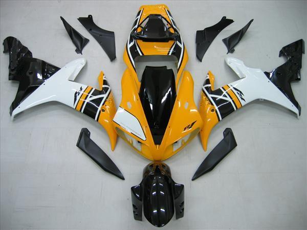 carénage pour Yamaha YZF R1 02 03 YZF-R1 2002 2003 Carénages de carénage jaune + blanc KIT Aftermarke
