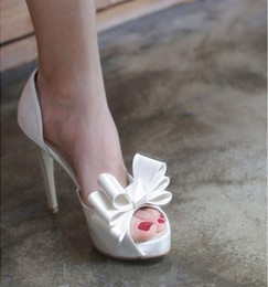 2017new стиль мода Оптовая высокий каблук белый черный красный розовый рыба рот платье платформы невесты свадебная обувь cheap fish mouth style shoe от Поставщики рыбий стиль обуви