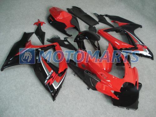 Red black motorcycl fairing kit FOR SUZUKI GSXR 600 750 K6 2006 2007 OEM Injection molding GSXR600 GSXR750 06 07 R600 R750