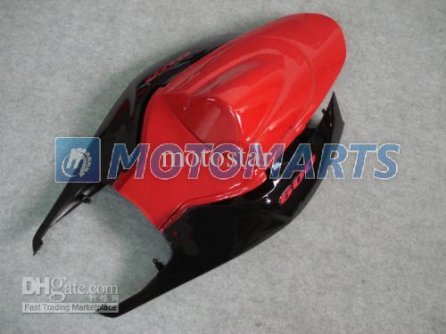 Röd svart Motorcykel Fairing Kit för Suzuki GSXR 600 750 K6 2006 2007 OEM Injektionsgjutning GSXR600 GSXR750 06 07 R600 R750