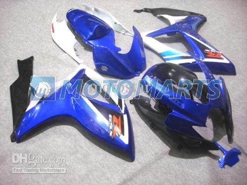 スズキGSXR 600 750 K6 2006 2007 GSXR600 GSXR750 06 07 R600 R750フェアリングキットのためのOEMの射出成形ブルーホワイトボディ
