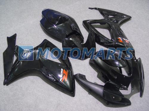 All Gloss Black Fairing Kit för Suzuki GSXR 600 750 K6 2006 2007 GSXR600 GSXR750 06 07 R600 R750