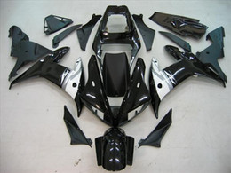 Wholesale Black Yamaha R1 - Customize Black fairing kit for YAMAHA YZF R1 02 03 YZF-R1 2002 2003 Black Bodywork Fairing KIT Aftermarke