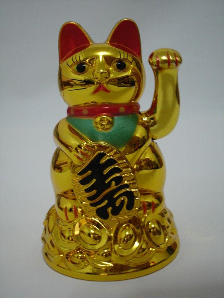 Maneki Neko 행운의 고양이 중국어 풍수가 흔들며 재산을 포춘 고양이 손을 흔들며 고양이 황금