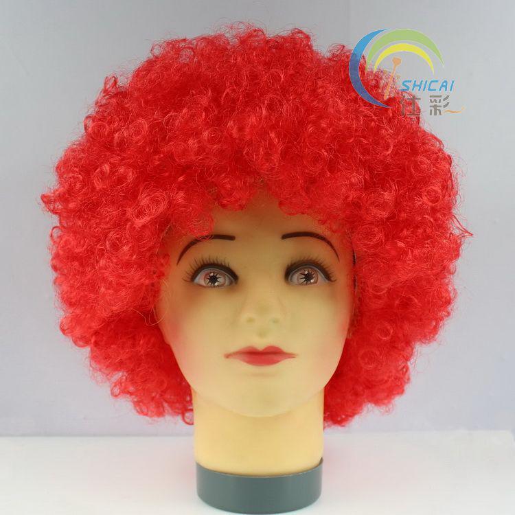 المشجعين لون الشعر يحدد قسم الانفجار ارتفاع درجة الحرارة سلك شعر مستعار مهرج حزب غطاء الرأس