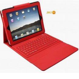 Wholesale Ipad Hard Case Keyboard - 15pcs Wireless Bluetooth Keyboard Leather Case hard cover for iPad2 ipad 3