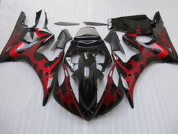 Windscreen For Yamaha R6 Canada - Red flame ABS fairing kit for Yamaha YZF R6 2003 2004 2005 YZFR6 03 04 05 YZF-R6 free windscreen