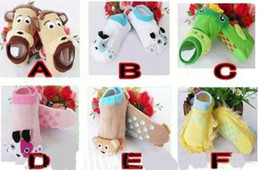 Wholesale Socks Busha - BUSHA cute 3D socks baby wear animal baby socks  white cotton socks.30pairs(60pcs) lot.