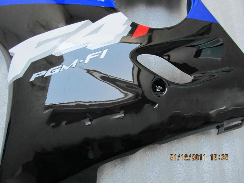 ホンダCBR600 CBR 600 F4I 01-03 2001 2002 2003アフターマーケットキットのための青い黒のABSフェアリングキット