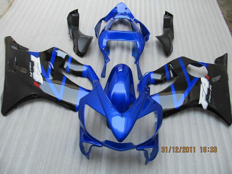 Blue Black ABS Fairing Kit för Honda CBR600 CBR 600 F4I 01-03 2001 2002 2003 Aftermarket Fairings Kit