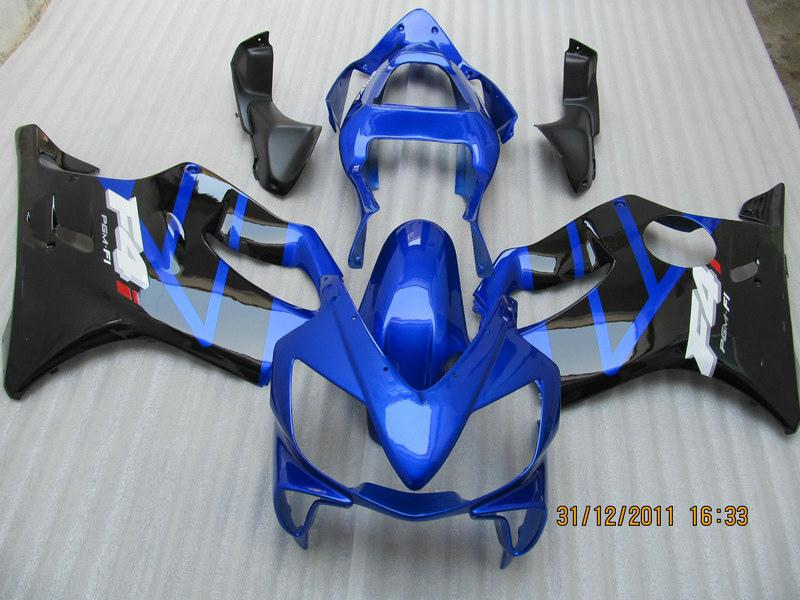 Blue Black ABS Fairing Kit voor HONDA CBR600 CBR 600 F4I 01-03 2001 2002 2003 Aftermarket Backings Kit